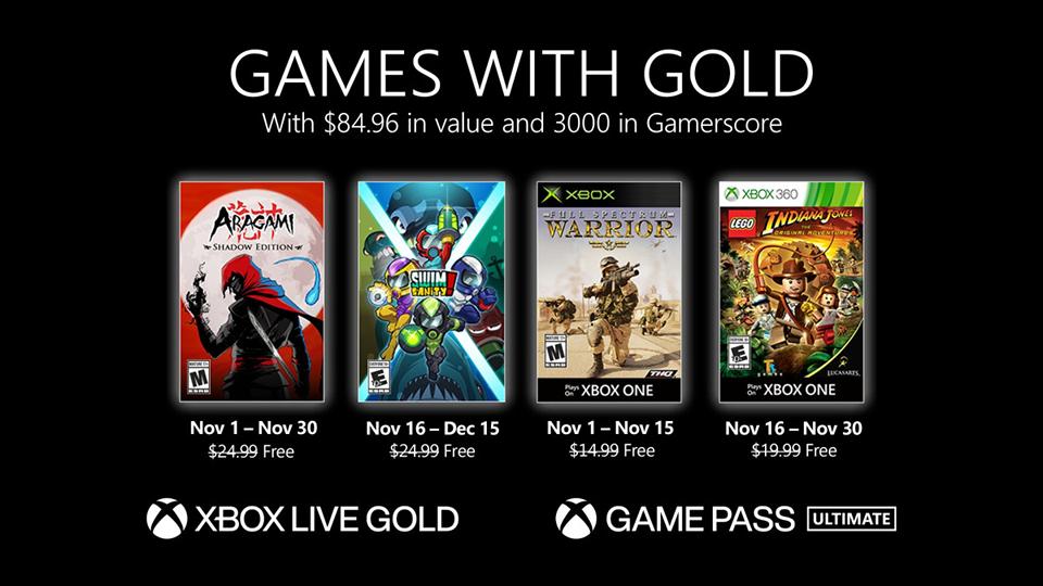 Xbox Games with Gold de noviembre de 2020