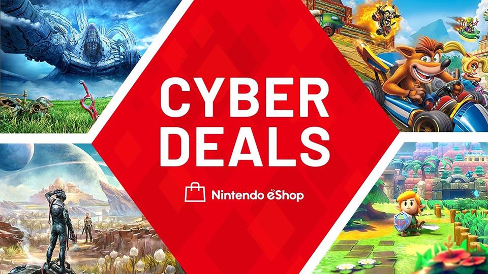 Nintendo eShop. Las ofertas Cyber Deals comienzan hoy.
