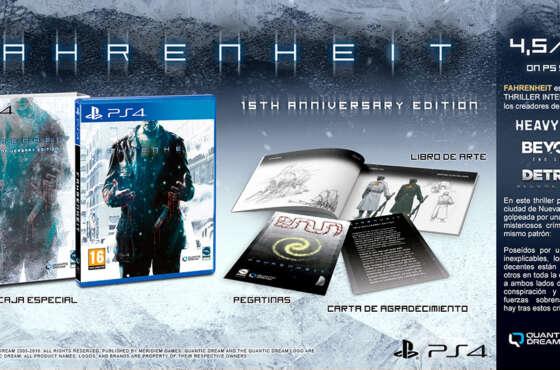 Fahrenheit 15TH Anniversary Edition ya tiene su edición física disponible
