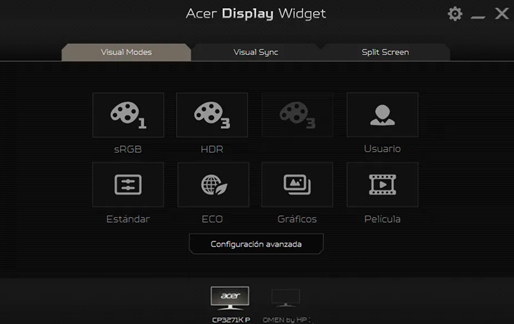 Acer Display Widget