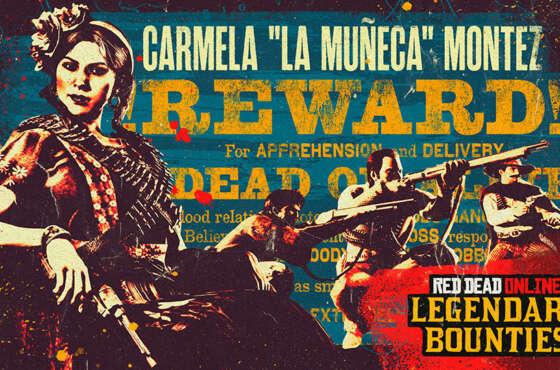 Red Dead Online: la Fugitiva Legendaria Carmela Montez