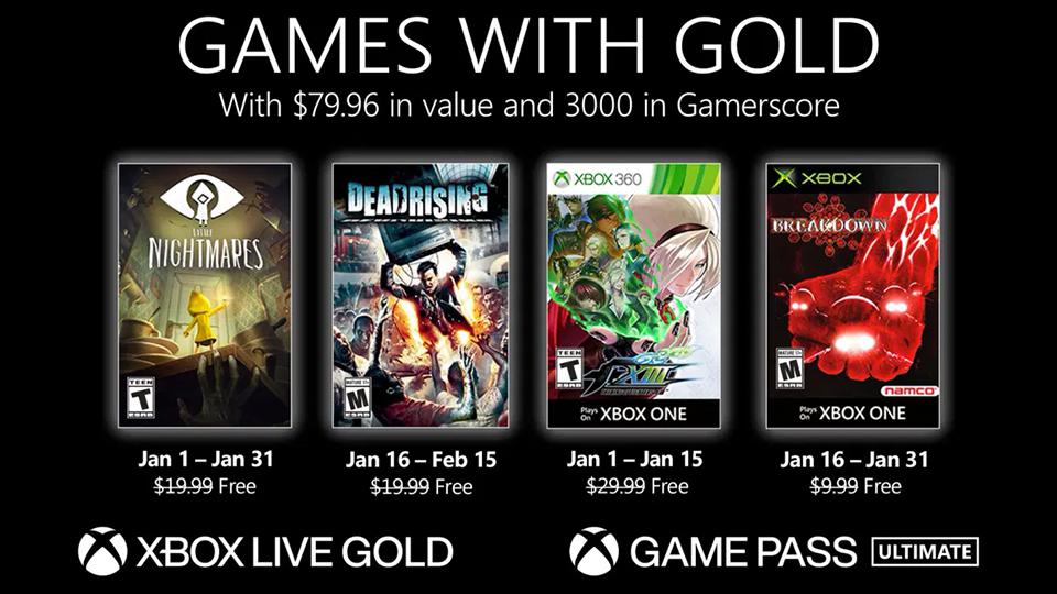 Anunciados los Games with Gold de enero de 2021