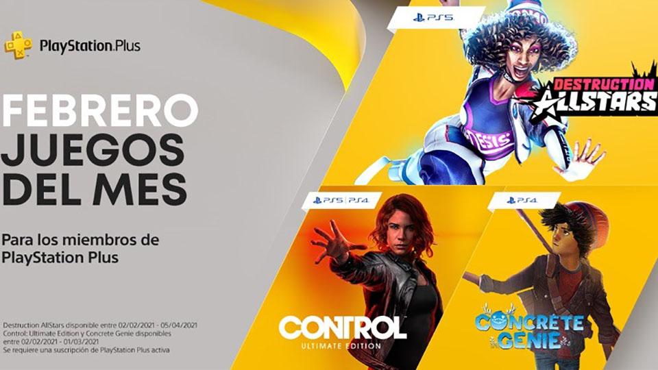 Nuevos títulos para PlayStation Plus en febrero