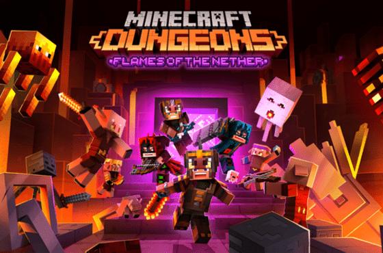 El DLC Las llamas del Inframundo de Minecraft Dungeons