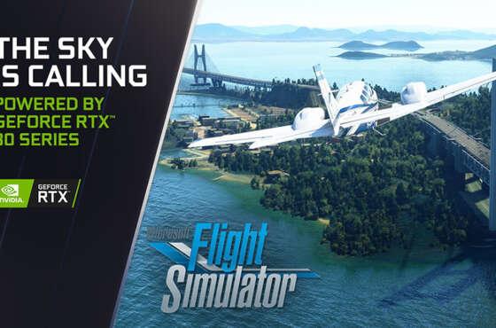 Microsoft Flight Simulator dobla el rendimiento con GeForce RTX 30 Series