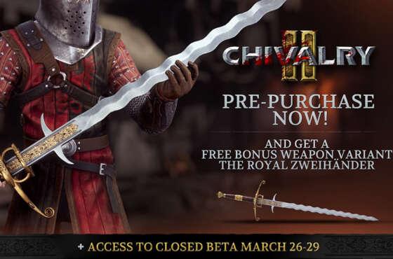 En marcha la beta cerrada multiplataforma de Chivalry 2
