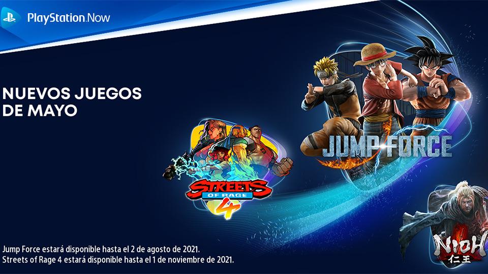 Jump Force, Nioh y Streets of Rage 4 se suman al catálogo de PlayStation Now