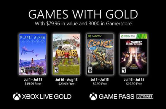 Games with Gold de julio de 2021