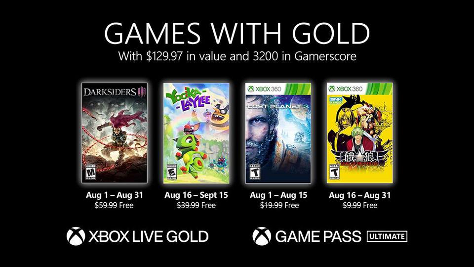 Games with Gold de agosto de 2021