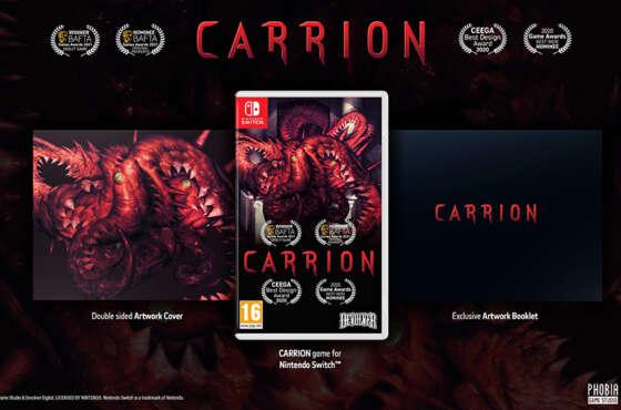 CARRION llegará en formato físico para Nintendo Switch
