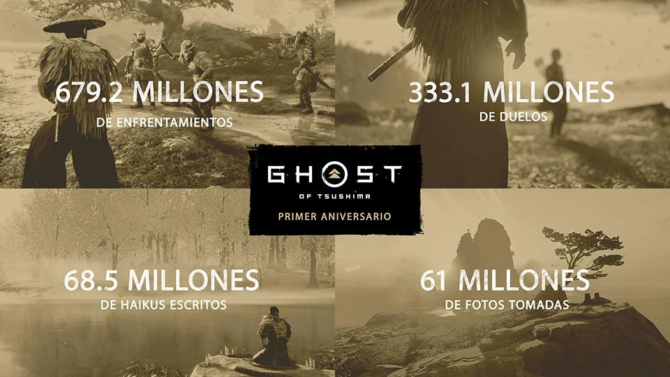 Las estadísticas de Ghost of Tsushima en su primer aniversario