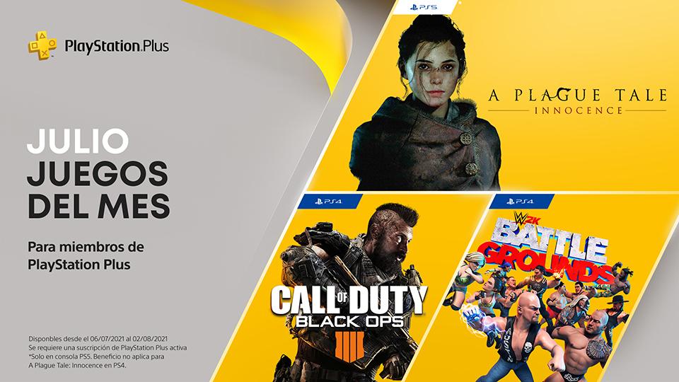 PlayStation Plus en julio