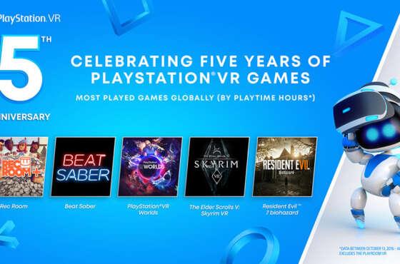 PlayStation VR celebra su quinto aniversario